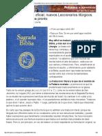 Nueva Biblia Oficial, Nuevos Leccionarios Litúrgicos
