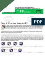 Advanced Rubik's Cube_ Fridrich First Two Layers - F2L