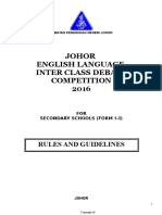 Johor Inter Class Debate Rules and Guides