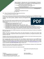 Surat Penerima Pendanaan Penelitian Dan Pengabdian Masyarakat Di Perguruan Tinggi Tahun 2017