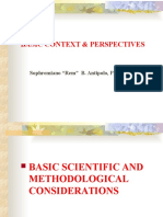 b .Review 0f Basic Perspectives and Contexts by Dr. s.b. Antipolo