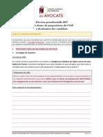 Plateforme de propositions du CNB aux candidats à l'élection Présidentielle 2017