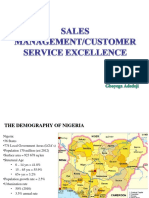 Sales Management and Customer Service Excellence in Nigeria