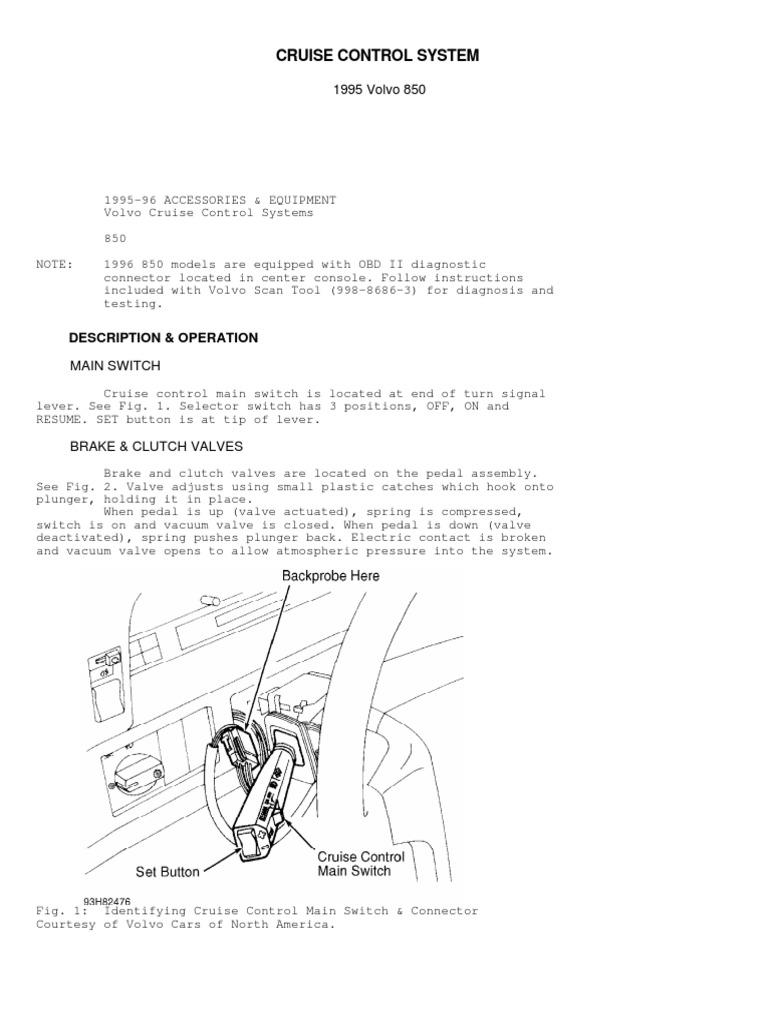 volvo cruise control diagram cruise control system pdf throttle switch  cruise control system pdf throttle