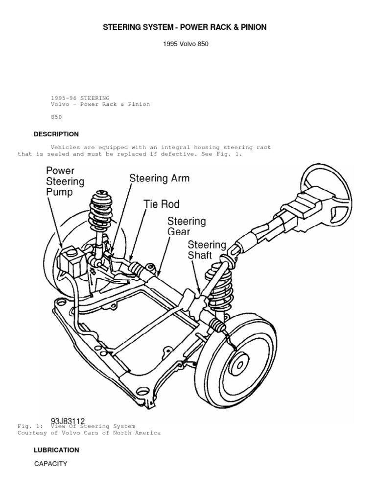Steering System Power Rack And Pinion Pdf Steering Screw
