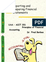 Chpater 03. Reporting and Preparing Financial Statements