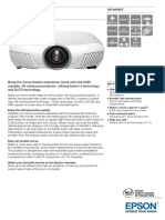 Epson EH-TW7300 3LCD 3D Home Theatre Projector with 4K-Enhanced Technology