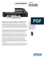 Epson WorkForce M100 Business Inkjet Tank System Printer
