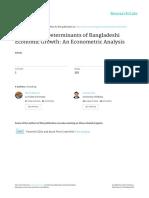 Fiscal Policy Determinants of Bangladeshi Economic