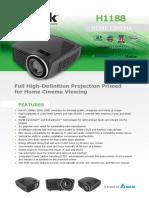 Vivitek H1188 Full HD 1080p DLP Home Theatre Projector