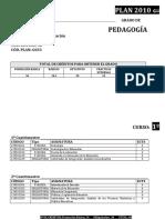 Plan Docente Del Grado de Pedagogía (2010)