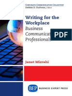 (Corporate Communication Collection) Mizrahi, Janet-Writing for the Workplace _ Business Communication for Professionals-Business Expert Press (2015)