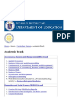 Academic Track Department of Education