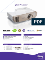 BenQ W2000 1080p Wireless Home DLP Projector