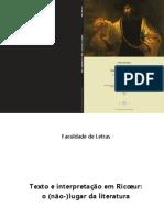 TORTATO, Barbara. Texto e Interpretação Em Ricoeur, o Nao-lugar Da Literatura