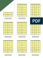 9 Diagramas Verticais guitarra