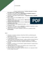 Mediul International de Afaceri- Teste