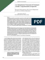 Novas Relações Entre as Interpretações Funcionais Do Desamparo Aprendido e Do Modelo Comportamental de Depressão