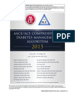 AACEACE COMPREHENSIVE DIABETES MANAGEMENT ALGORITHM 2015