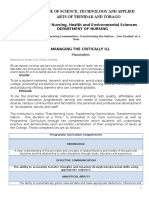 Management of the Critically Ill