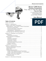 Barton 7000 Series Turbine Flowmeters User Manual