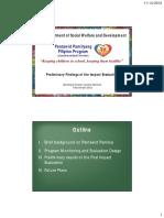 4-DSWD Preliminary Findings of the Impact Evaluation of Pantawid Pamilyang Pilipino Program