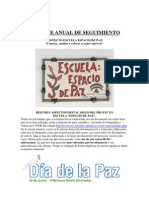 Informe Anual Seguimiento Escuela Espacio de Paz Villanueva Mesia Curso 2008-09
