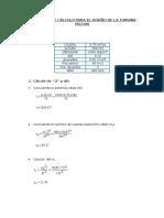 Algoritmo de Cálculo Para El Diseño de La Turbina Pelton