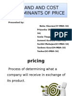 Demand and Cost Determinants of Price