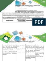 Guía de Actividades y Rúbrica de Evaluación - Paso 2 - Realizar Lista de Las Informaciones Del Escenario Del Problema
