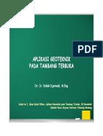 2016, Kuliah ke 1, Aplikasi Geoteknik pada Tambang Terbuka.pdf