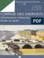 GRAMMAIRE Expression Orale Et Ecrite - Corriges- PUG.pdf