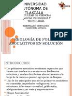 REOLOGÍA DE POLIMEROS ASOCIATIVOS EN SOLUCIÓN.pptx