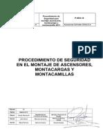 16. Procedimiento de Seguridad Montaje Ascensores v4_2010