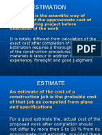 Estimation and contract