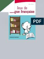 Jeux de Langue Fran 231 Aise Ed