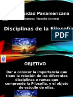 Presentacion Filosofia Disciplinas Filosoficas