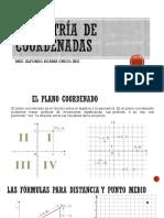 1 Geometría de Coordenadas