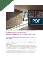 Tecnologia Na Construção Civil.