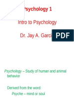 Ch. 1. Intro to Psychology