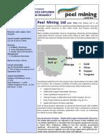 Peel Mining Ltd Investor Sheet