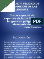 Vitalidad y Peligro de Desaparición de Las Lenguas