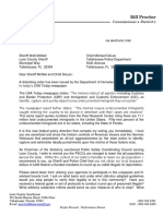 County Commissioner Bill Proctor Letter on DHS immigration guidelines