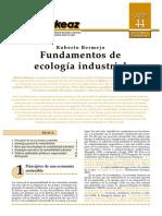 Libro Fundamentos de Ecologia Industrial