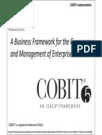 Student Handbook for COBIT5 Implementation Training