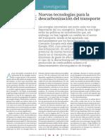 Descarbonizacion Del Transporte