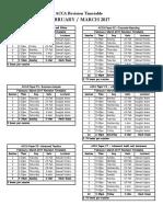 March Revison Timetable - Professional