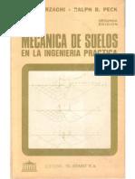 Mecánica de Suelos en La Ingeniería Práctica