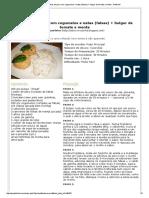 Receita Bifinhos de peru com cogumelos e natas (falsas) + bulgur de tomate e menta