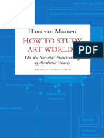 Maanen Hans Van, 2009, How to Study Art Worlds. on the Societal Functioning of Aesthetic Values, Amsterdam University Press, Amsterdam